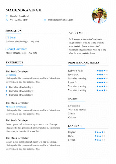 6 Resume template to edit and download. My Resume Format ...