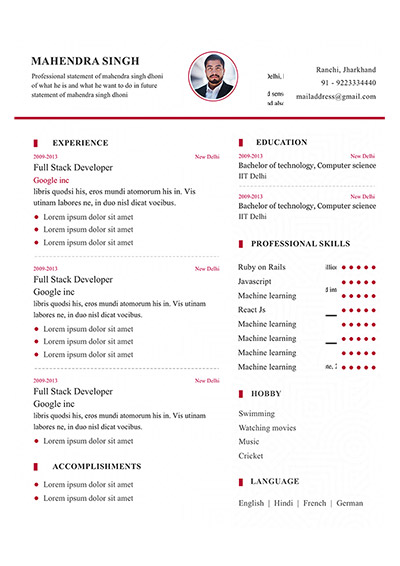 6 resume template to edit and download  my resume format